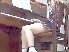 Cute Asian teen babe gets groped by her piano teacher