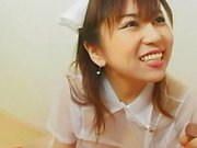 avmost Japanese bunny in a see-through nurse