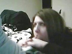 chubby cutie sucking cock on camera