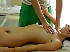 Dinara enjoys her full body massage from her stud