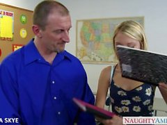 Slim Dakota Skye gets nailed by her boss