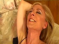 Milf in glasses gets young cock in her ass