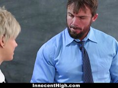 InnocentHigh - Shy Teen Opens Up For Teacher