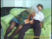 busty hairy german grandma loves a young boy