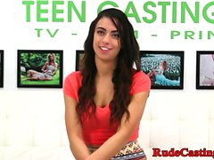 Teen cutie squirts and fucks at sexaudition