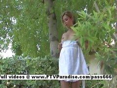 Layla funny horny babe undressing