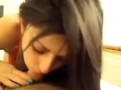 Amazingly beautiful brunette teen POV blowjob