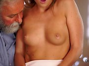 OLD4K. Old daddy enjoys fantastic sex with...