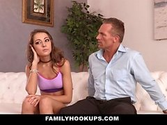 FamilyHookUps - Skipped School to Fuck Stepdad