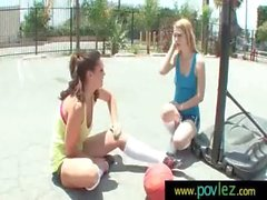 Hot Girl Seduced By Horny Lesbian 3