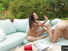 Teens Pleasuring Pussy with Fingers Marley Brinx,Kylie Nicole