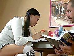 Naughty lalin girl attractive teen grabs a cock