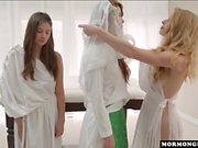Mormongirlz - Two girls open up redheads pussy