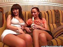 Drunken hotties works on cocks