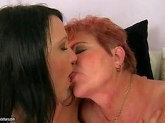 Girls and Chubby Grandmas Lesbian Compilation