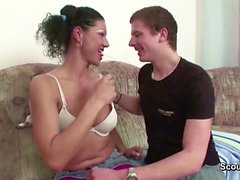 Milf Step-Mom Seduce Young Boy To Fuck When Dad Away