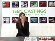 Brutal casting for amateur tattooed teen