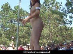 Slutty girls next door get naughty by the pool