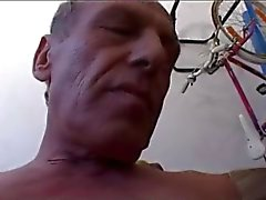 Old man wit soft dick cumming