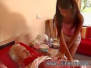 Old sperm and amateur old couple Bruce is