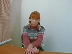 Russian Sexy Redhead Teen Anal Casting