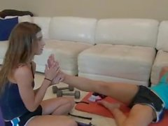 Foot Smelling & Worship Lesbian