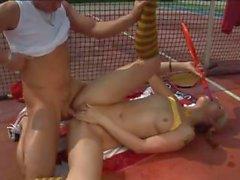 Tennis court sex