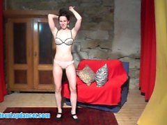 Hot lapdance by fresh czech cutie