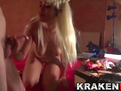 Krakenhot - Cosplay girl doing blowjob while she makeup
