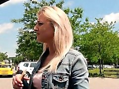 Czech girl Katy Rose nailed by pervert guy in public