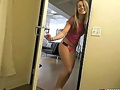 Kimmy Granger caught step bro jerking off and she help him out