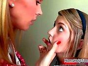 Tanya Tate spanking a cute teen girl her