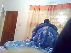 Black couple fucking on hidden camera