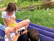 teens sex in the forest