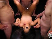Asian amateur gangbang and creampie