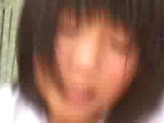 Cute Asian teen gets pumped and toyed then blows in a three