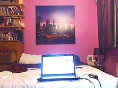 Cute blonde teen webcam striptease