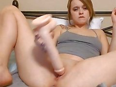 I could fuck you all the time! Anal, ten inch dildo, and visible orgasm