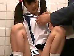 Jav Teen Schoolgirl Caught In Toilet By Old Guard