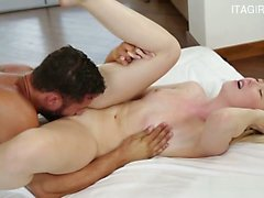 Busty slut anal cum swap