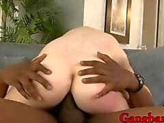 Super slim teen girl Courtney Star DPed by big black cocks