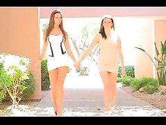Beutty lesbian teen undress in public