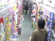 Teen gets used as a sex toy in a supermarket