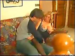 french mature lady likes a young guy