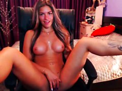 tan latina cam girl teasing n masturbatin live pt1