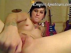 Cute Teen with Tattoo's Masterbates on cam for you