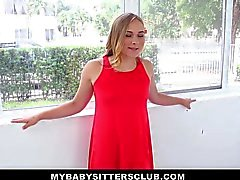 Mybabysittersclub - Babysitter Cutie Fucks Boss