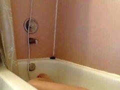 small tit brunette tattooed teen girlfriend caught in shower