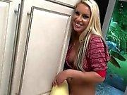 Blonde Teen Girlfriend Treats Boyfriend To Laundry Blowjob