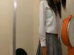 Slender Japanese girl has a kinky doctor carefully examinin